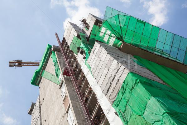 большой строительная площадка промышленности архитектура конкретные шлема Сток-фото © vichie81