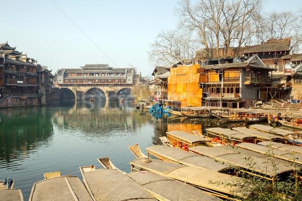 Brug China phoenix oude stad huis Stockfoto © vichie81
