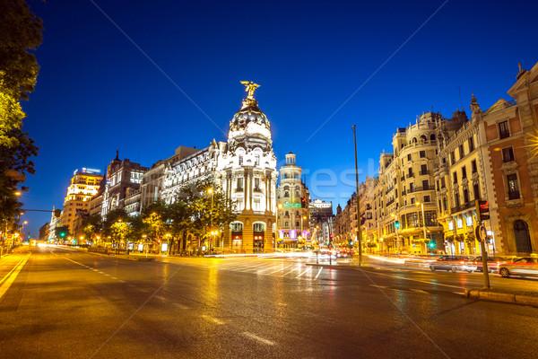 Zdjęcia stock: Madryt · główny · zakupy · ulicy · Hiszpania · zmierzch