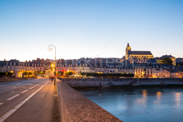 Blois with Cathedral France at dusk Stock photo © vichie81