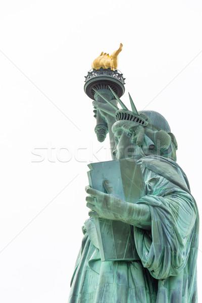 Heykel özgürlük New York ABD yeşil mavi Stok fotoğraf © vichie81
