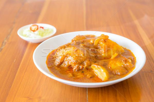 Thai strigliare pollo alimentare asian cottura Foto d'archivio © vichie81