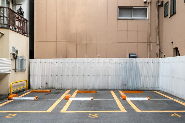 Pusty parking centrum tekstury streszczenie projektu Zdjęcia stock © vichie81