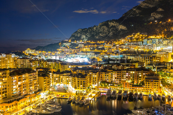Монако порт воды дома город пейзаж Сток-фото © vichie81