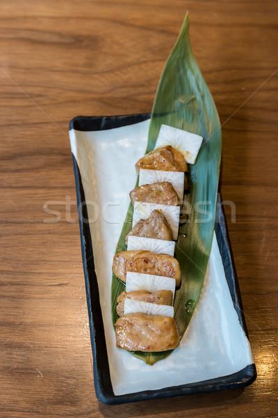 grilled foie gras Stock photo © vichie81