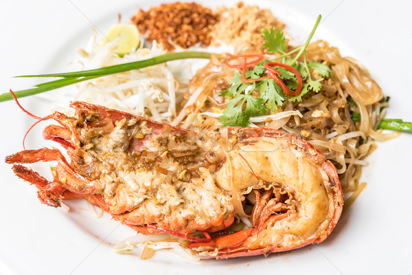 Homard thai riz alimentaire oeuf Photo stock © vichie81