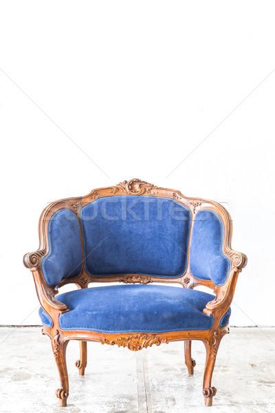 Zdjęcia stock: Niebieski · sofa · kanapie · vintage · pokój · klasyczny