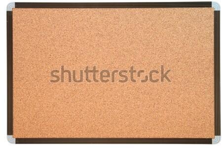 üres figyelmeztetés parafa tábla fehér keret iroda Stock fotó © vichie81