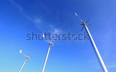 Ferme vert pouvoir énergie nature Photo stock © vichie81