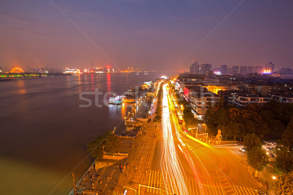 Wuhan Hubei China at dusk Stock photo © vichie81