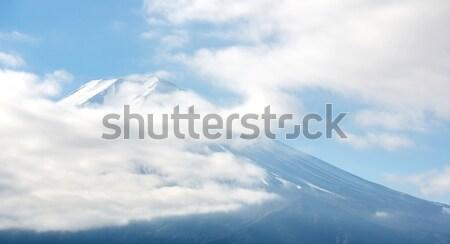Berg fuji bewolkt Japan hemel landschap Stockfoto © vichie81