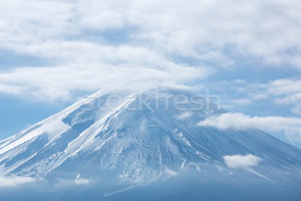 Montanha fuji lago céu água paisagem Foto stock © vichie81