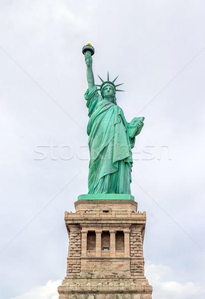 Szobor hörcsög panoráma New York USA égbolt Stock fotó © vichie81