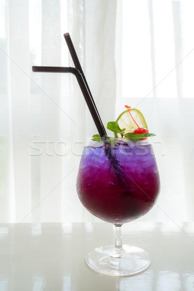 Coquetel de enfeite cal cereja água Foto stock © vichie81