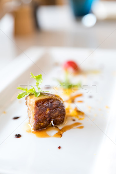 Gegrild franse keuken groene plaat Stockfoto © vichie81