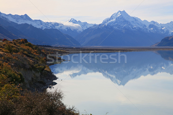 Mount cook of lake pukaki Stock photo © vichie81