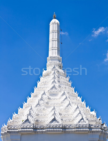 White roof of temple Stock photo © vichie81