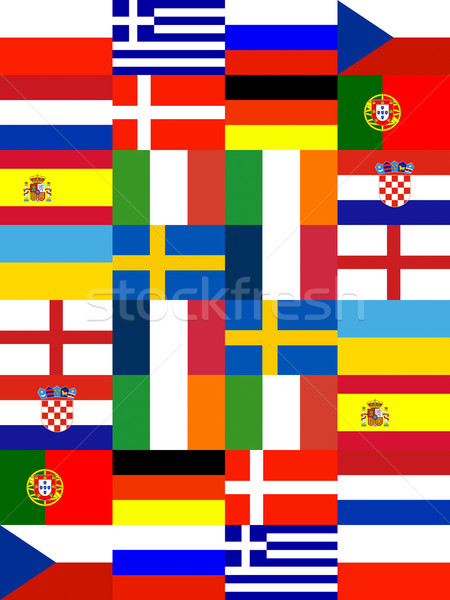 16 Europe National flag Stock photo © vichie81