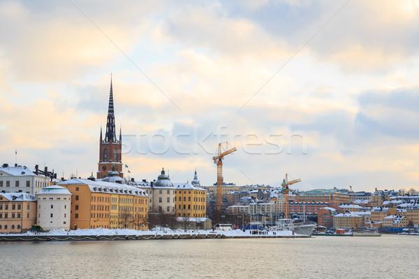 старый город Стокгольм город Швеция Cityscape воды Сток-фото © vichie81