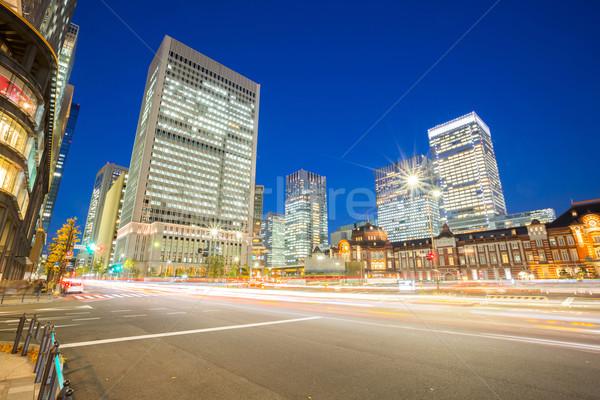 Tokio centro de la ciudad moderna oficina estación de ferrocarril Japón Foto stock © vichie81