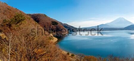 Panorama dağ fuji göl gökyüzü manzara Stok fotoğraf © vichie81