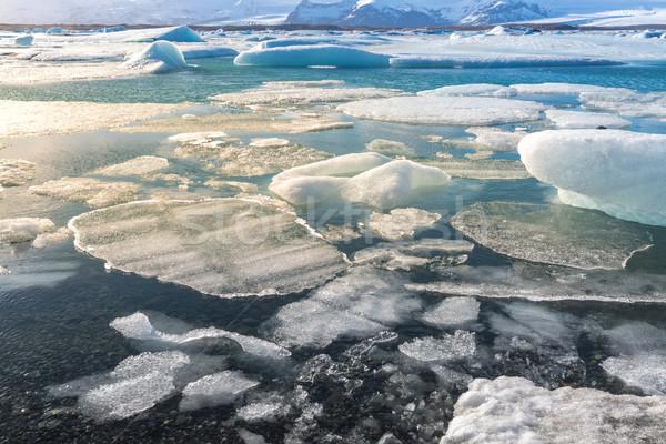 Ghiacciaio Islanda acqua natura neve bellezza Foto d'archivio © vichie81