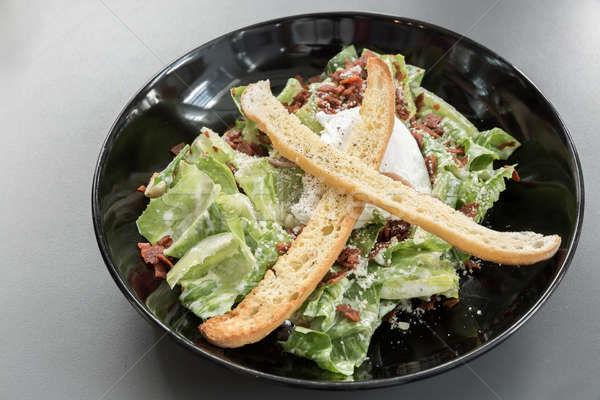 シーザーサラダ ボウル 緑 サラダ 野菜 新鮮な ストックフォト © vichie81