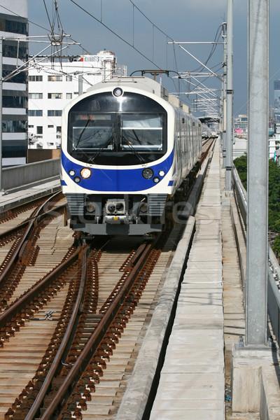 Blue sky train Stock photo © vichie81
