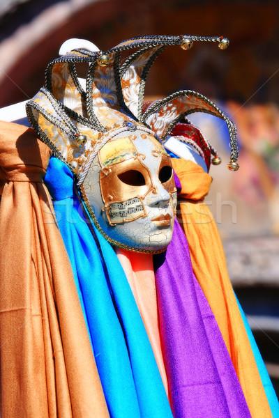 Venezia maschere colorato Italia faccia blu Foto d'archivio © vichie81