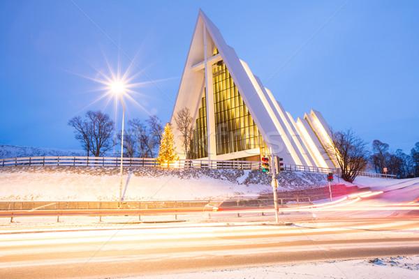 Арктика собора Церкви Норвегия сумерки сумерки Сток-фото © vichie81