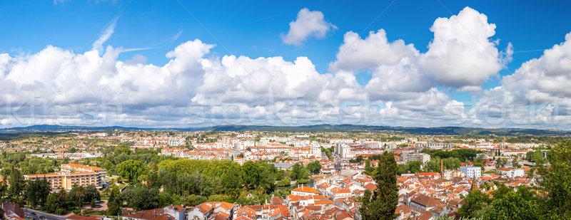 Stockfoto: Panorama · Portugal · shot · oude · binnenstad · zomer · kerk