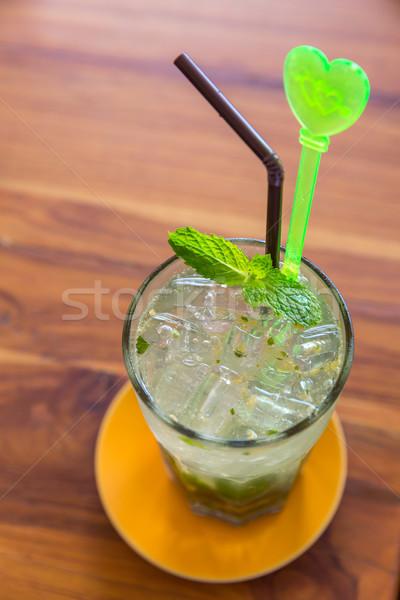 Ijs mint mojito cocktail water Stockfoto © vichie81