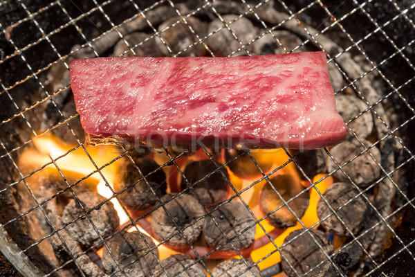grilled wagyu Sirloin meat yakiniku Stock photo © vichie81