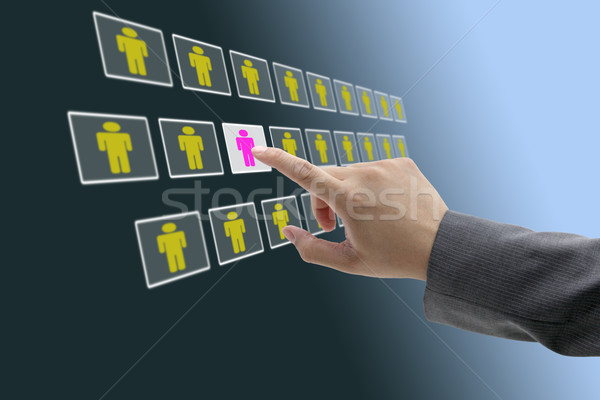 electronic business recruitment Stock photo © vichie81