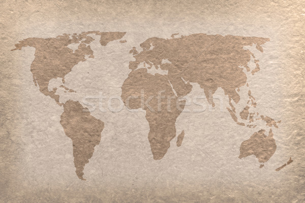 vintage world map paper craft Stock photo © vichie81