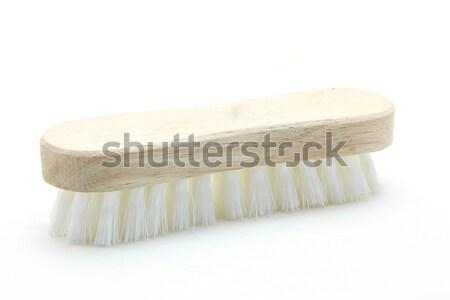 wooden cleaning scrub brush Stock photo © vichie81