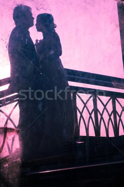 сцена любви пары счастье романтические свадьба Сток-фото © vichie81