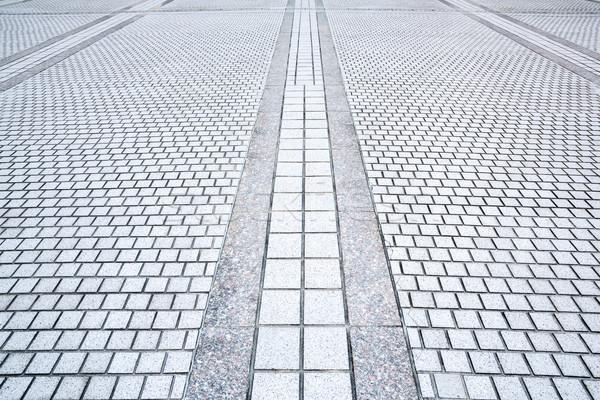 Marciapiede strada prospettiva concrete mattone costruzione Foto d'archivio © vichie81