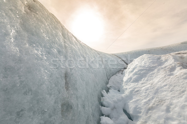 Snow landcape with sun Stock photo © vichie81