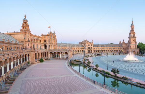 espana Plaza Seville Spain Stock photo © vichie81