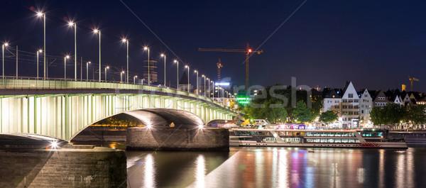 Colonia Alemania panorama paisaje río ciudad Foto stock © vichie81