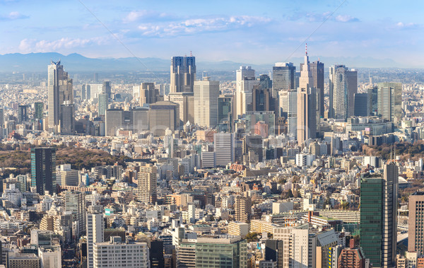 Tokio gebouw stad skyline najaar Stockfoto © vichie81