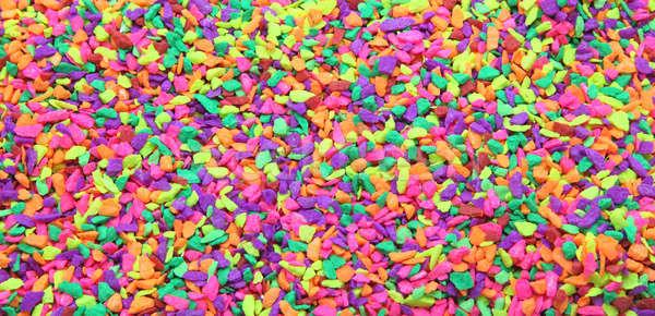 Rainbow minuscolo rock pietra bianco marmo Foto d'archivio © vichie81