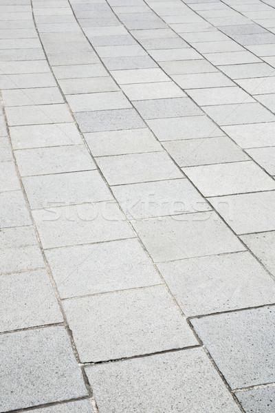 Concretas ladrillo pavimento perspectiva carretera construcción Foto stock © vichie81