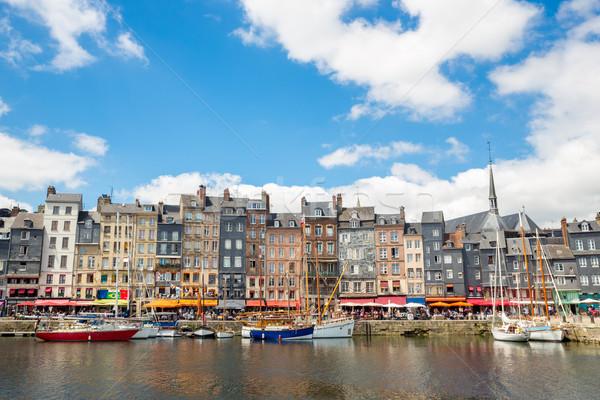 Porto centro da cidade normandia França casa viajar Foto stock © vichie81