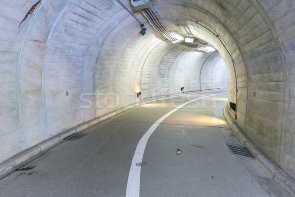 Alagút belső városi út utca háttér Stock fotó © vichie81