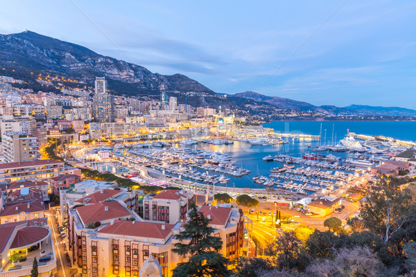 Monaco Monte Carlo harbour Stock photo © vichie81