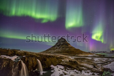 Northern Lights Aurora  Iceland Stock photo © vichie81