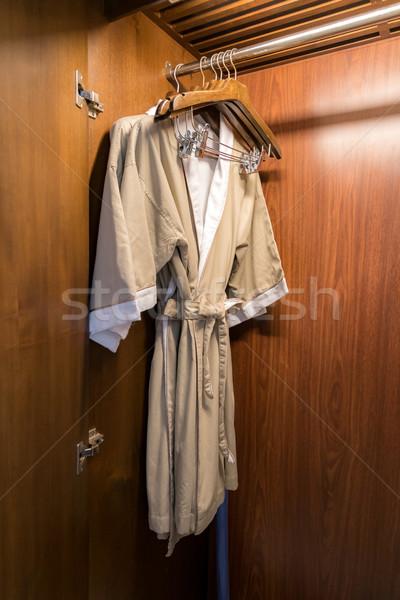 Albornoz moda cuerpo salud puerta Foto stock © vichie81