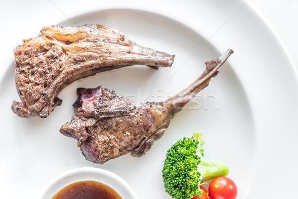 Grilled Lamb steak Stock photo © vichie81